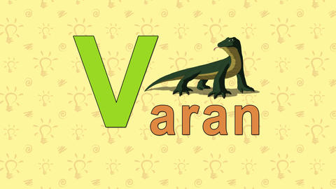 Varan. English ZOO Alphabet - letter V Live Action