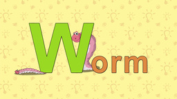 Worm. English ZOO Alphabet - letter W Live Action