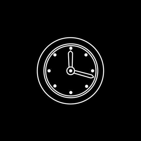 Clock Thin Icon With Alpha Channel GIF