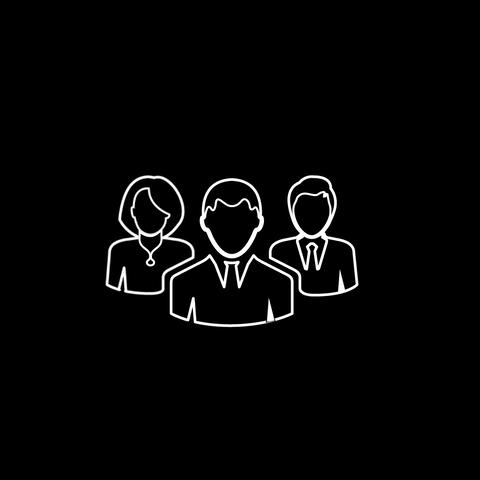Group Of People Thin Icon With Alpha Channel Animation