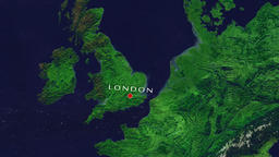 London Zoom In - Zoom to geographic earth from space Animation