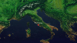 Rome Zoom In - Zoom to geographic earth from space Animation