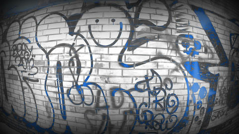 Bright Blue BW Graffiti Filmmaterial