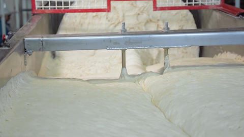 Industrial kneading dough in the bakery Footage