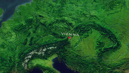 Vienna Zoom In - Zoom to geographic earth from space Animation