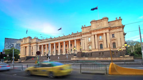 Parliament House of Victoria - Located in Melbourne Footage