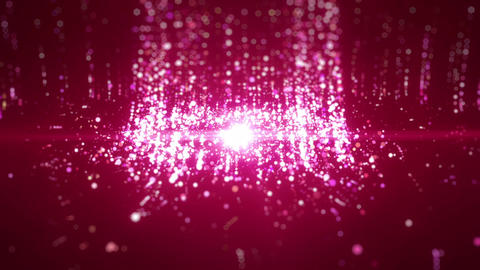 SHA Particle Emission From Center Image Pink Animation