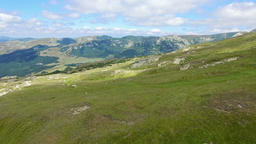 Aerial view of Babele natural monument in Bucegi mountains, Romania Footage