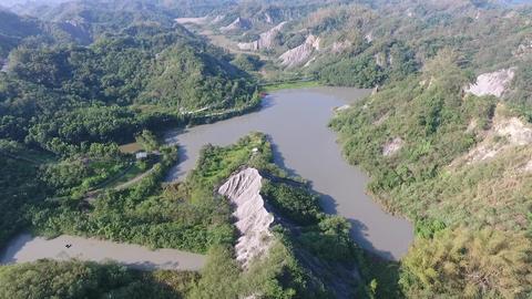 DJI P4 Taiwan Tainan Aerial Drone Video Niu Pu Mudstone 20160924 -1 Footage