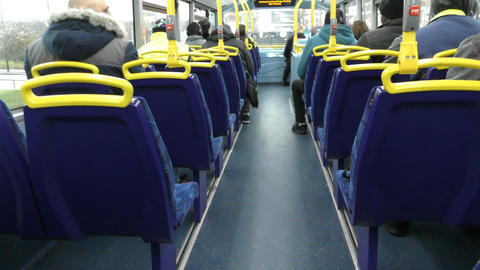 Inside the bus on the second floor Footage
