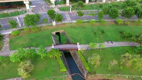 DJI P3A Taiwan Tainan Aerial Video Around the Yingxi Lake-2 20150712 -10 Footage
