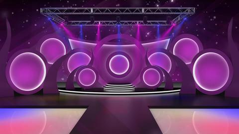 Entertainment TV Studio Set 48-Virtual Background Loop Footage