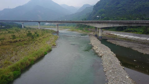 DJI MAVIC 4K Taiwan Aerial Drone Video Nantou Nine nine peaks Dadu River 2016112 Footage