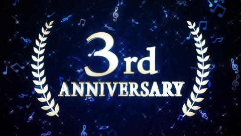 3rd anniversary 動画素材, ムービー映像素材