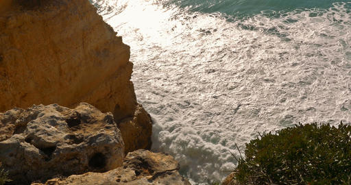Praia At Grutas De Benagil, Algarve Portugal Footage