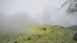 Sulfur fumarole emits powerful jet of smelly steam and gas Footage