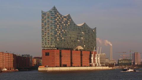 Elbphilharmonie in Hamburg Stock Video Footage
