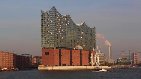 Elbphilharmonie in Hamburg Footage