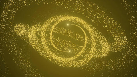 Two light and gold particles Animation