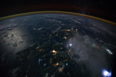 Ungraded: Islands in Philippine Sea at Night Footage