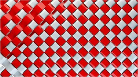 Red and white stripes transition clip. Use this to create a high quality transit Animation
