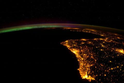 Ungraded: Aurora Borealis Over Western Europe Footage