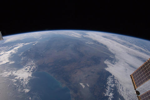 Ungraded: Looking Behind ISS at North Africa, Western Europe, and Across The Footage