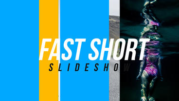 Fast Short Slideshow After Effects Project