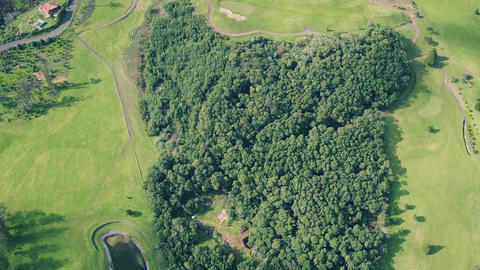 Aerial View of the Golf Course Footage