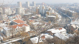 Panorama of City of Plovdiv from nebet tepe hill, Bulgaria Filmmaterial