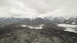 Handheld pan of mountains of Jotunheimen, Norway Footage