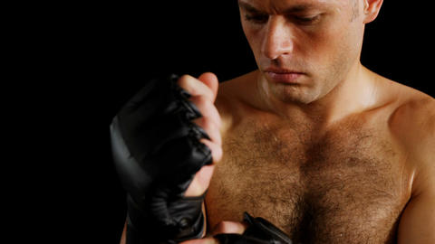 Boxer wearing boxing gloves Live Action