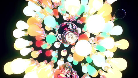 Rotating Sphere From Bulbs Animation