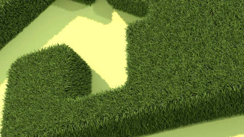 Shaped grass like house Animation