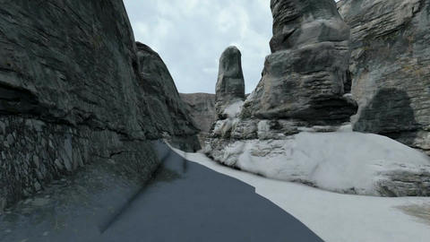 Pure water ice in the mountains Animation