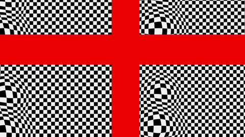 The red cross on the black and white Animation
