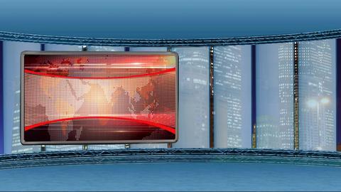 News TV Studio Set 249- Virtual Background Loop Footage