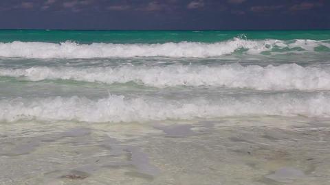 On the empty Cayo Jutias beach, Cuba Footage