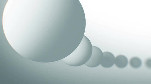White Balls Moving Seamless in Abstract 3d Animation. Looped Background in 4k, 3 Animation