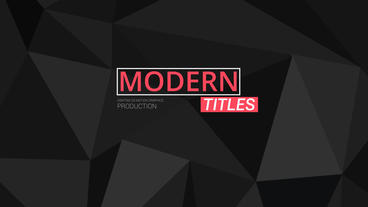30 Modern Tiltes After Effects Project