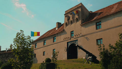Static shot of the Old Citadel in Brasov, Romania Footage