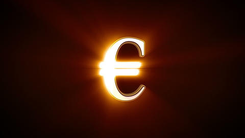 Euro sign rotating Animation