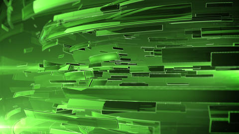 3d abstract business sphere. Green color and DOF Animation