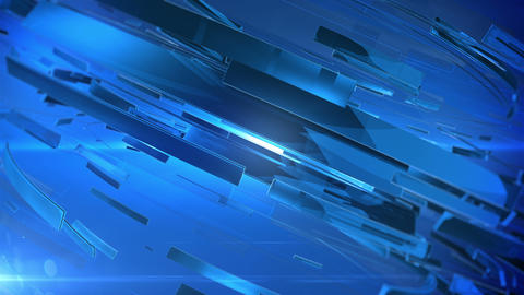 Abstract Technology Background with lens flare. Blue colors Videos animados