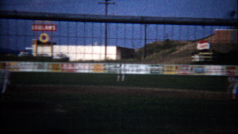 1960: Little league baseball world series with players in the final game Footage