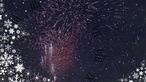 celebratory New Year's fireworks Footage