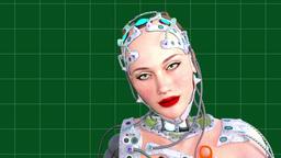artificial intelligence, animation, tehno woman,girl robot Animation