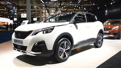 Peugeot 3008 crossover SUV car Live Action