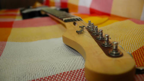 Electric guitar's hitch-pin Footage