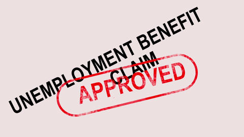 Unemployment Benefit Claim Approved Stamp Showing Social Security Welfare Agreed Animation